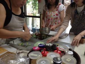 韓国料理講習風景