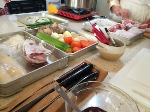 韓国料理教室食材