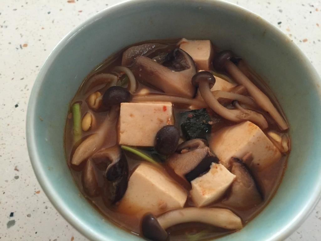 椎茸を使ったスープ