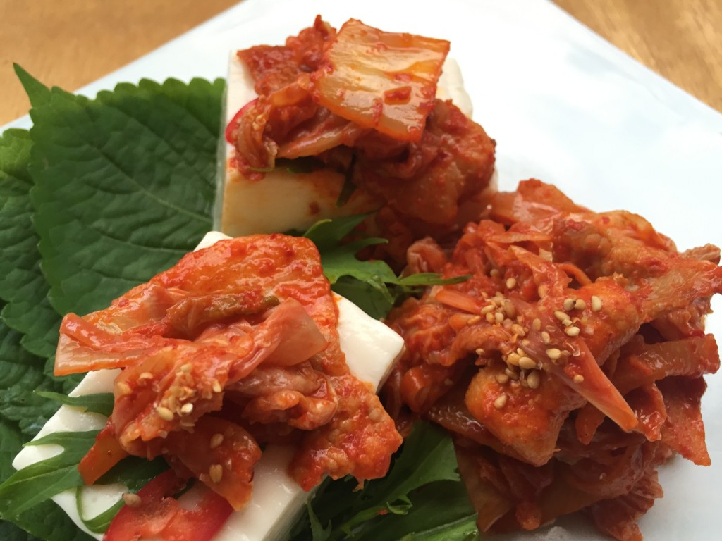 キムチと豆腐