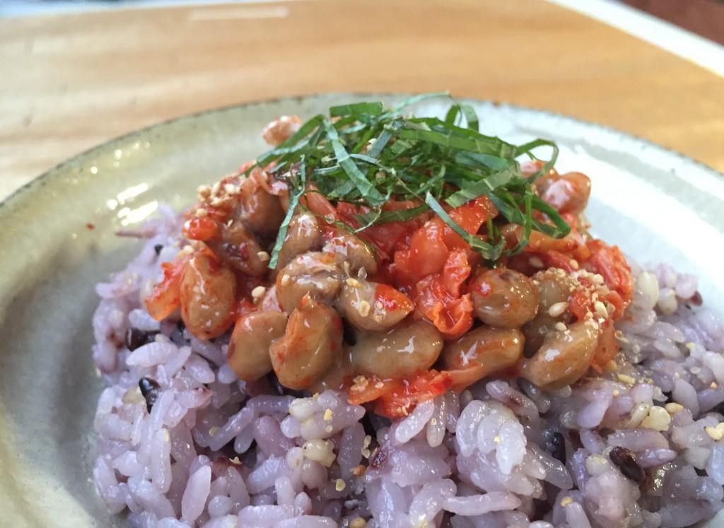 キムチと納豆ご飯