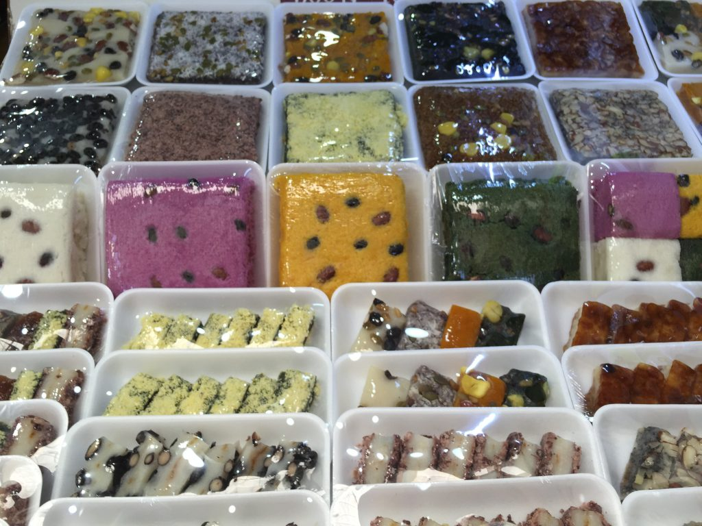 韓国の餅売り場
